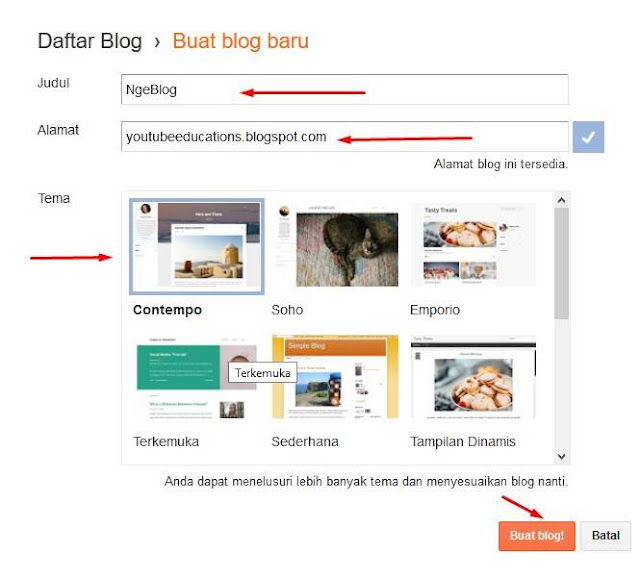 Cara Membuat Blog Gratis di Blogger Dengan Mudah Dan Cepat - Cara Membuat Blog di Blogger 3