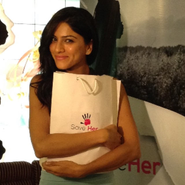 the lovely sapna pabbi @sapnapabbi_official supporting mission save her ,. thank you for the support! sapna pabbi , mumbai , mission save her , save her ,