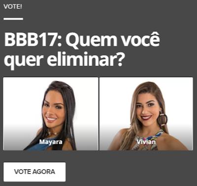 #BBB17: Mayara deve ser eliminada neste terça, segundo enquetes