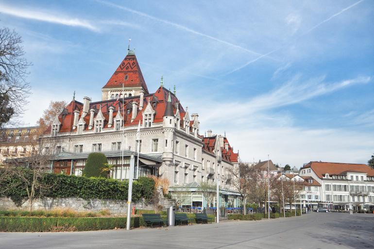 Hôtel Château d'Ouchy à Lausanne en Suisse