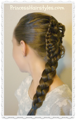 Stingray braid hairstyle tutorial