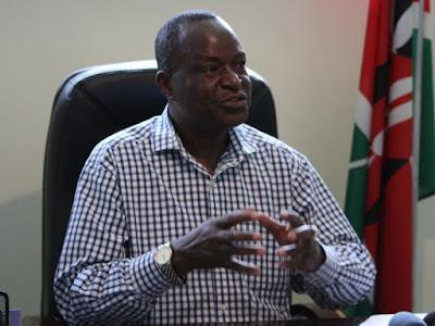 Kisumu Senator Fred Outa in his office. PHOTO  FILE
