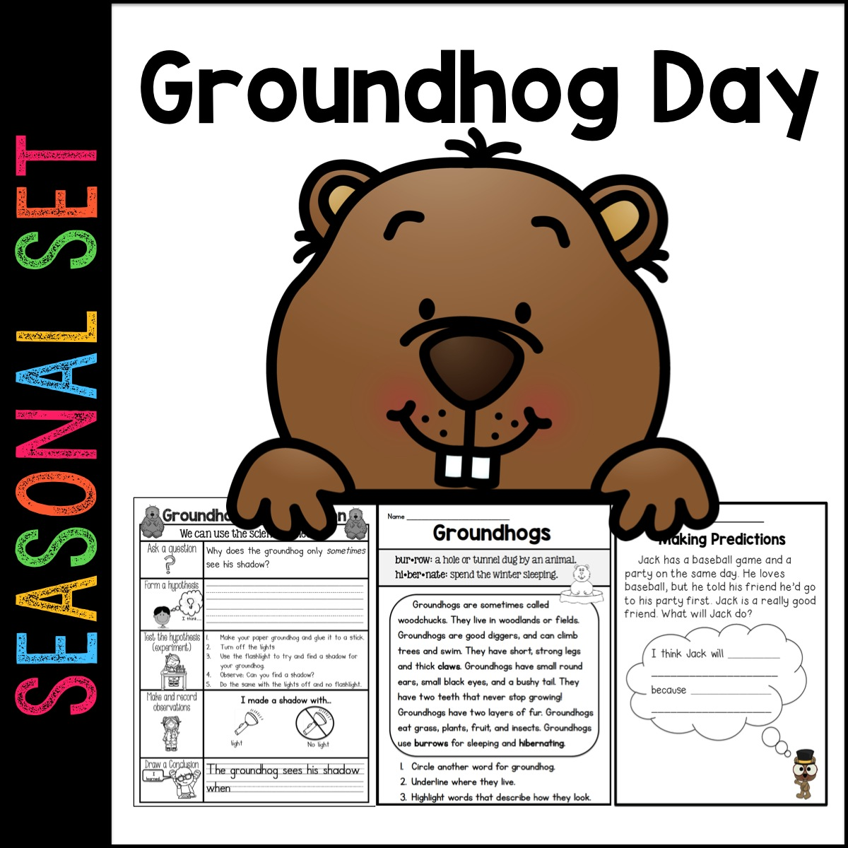 Sarah S First Grade Snippets Groundhog Day Unit
