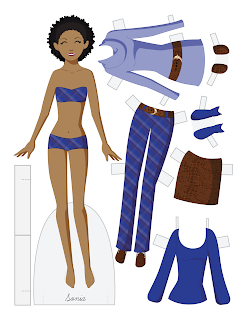 Sonia - Fashion Friday Paper Doll