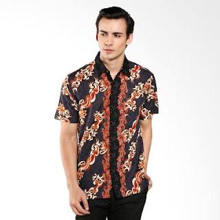 Gambar Model Baju Batik Pria Kombinasi Terbaru