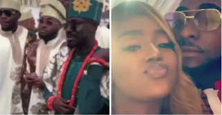 Davido And Chioma Storm Abuja Wedding With '30 Billion Squad' (Video, Photos)
