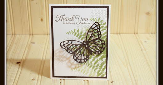 Stampin' Up Butterfly Basics Thank You Card
