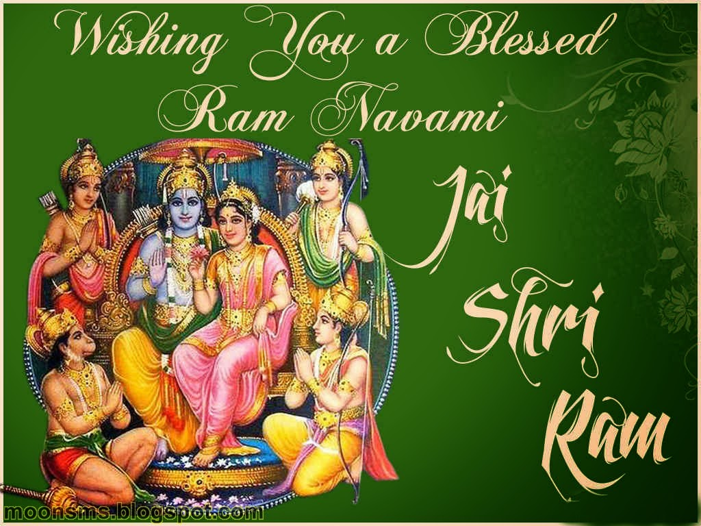 Happy Ram Navami SMS 2014 text message wishes greetings quotes in English Hindi with hindu God Jay shri Ram with sita Hanuman gif animated images picture photo HD wallaper