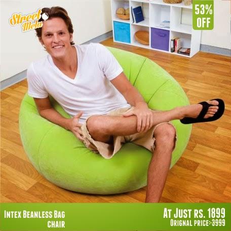 Brilliant Street Mela Intex Beanless Bag Chair Dailytribune Chair Design For Home Dailytribuneorg