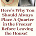 HERE'S WHY YOU SHOULD ALWAYS PLACE A QUARTER IN THE FREEZER BEFORE LEAVING THE HOUSE!