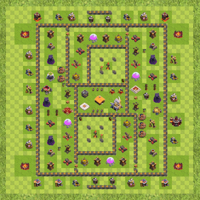 War Base Town Hall Level 11 By Maryam Tanha (Marr TH 11 Layout)