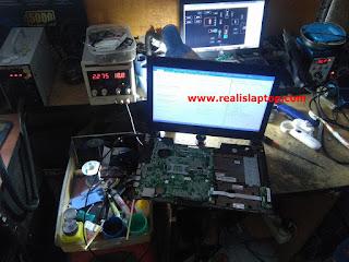 Service Laptop Asus K45DR Layar Redup