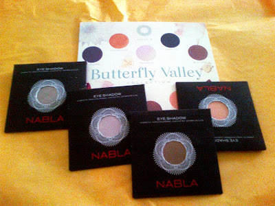 Review Ombretti Nabla Pegasus, Peach Velvet, Unrestricted (collezione Butterfly Valley) e Sandy