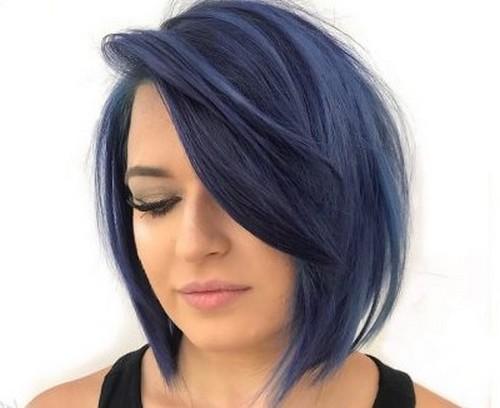 model rambut pendek wanita 2019 bob asimetrik