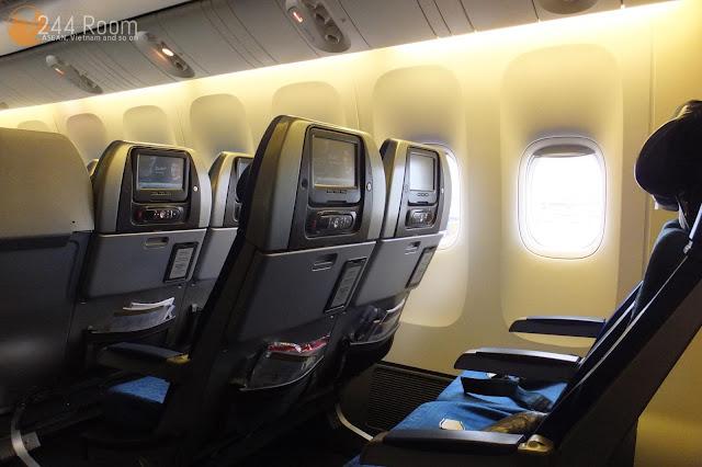 キャセイパシフィックエコノミー座席 CX economyclass seat