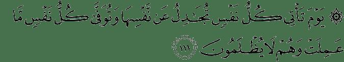 Surat An Nahl Ayat 111