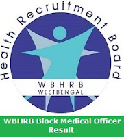 WBHRB Block Medical Officer Result