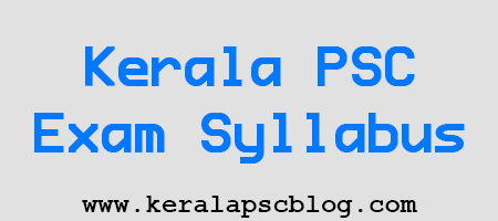 Kerala PSC Civil Excise Officer Exam Syllabus 2014