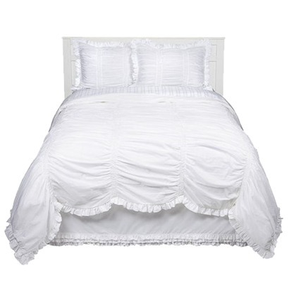 after much i bought this simply shabby chic smocked duvet set in white from target for my newly renovated master bedroom