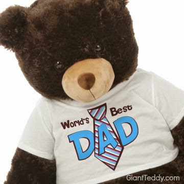 Baby Tubs Father's Day 3 ft. tall Teddy Bear