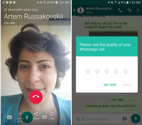 Whatsapp video call not working properly