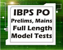 IBPS PO prelims, mains full length tests