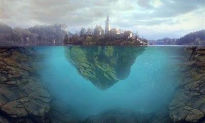 Membuat Efek Pulau Mengambang di Air