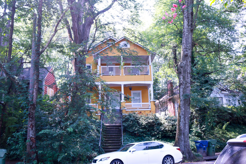 yellow house in Inman Park