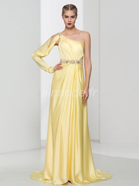 manches longues en été formelle célèbre soirée décolleté crystal longue robe