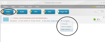 añadir subtitulos con la herramienta  free make video converter.
