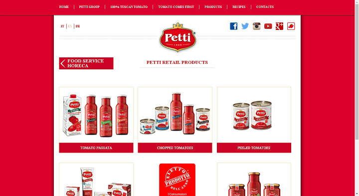 Picture to Italian food exporter company named Antonio Petti Spa