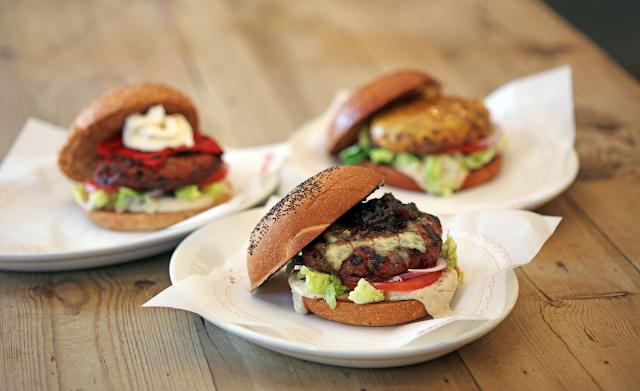 Selección de hamburguesas de Bacoa, hamburguesería de Madrid