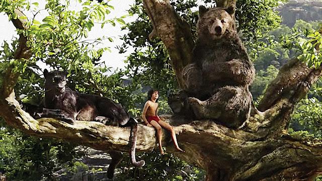 Mowgli, Bagheera and Ballu
