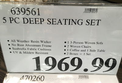 Deal for the Sunbrella 5-piece Woven Seating Group at Costco