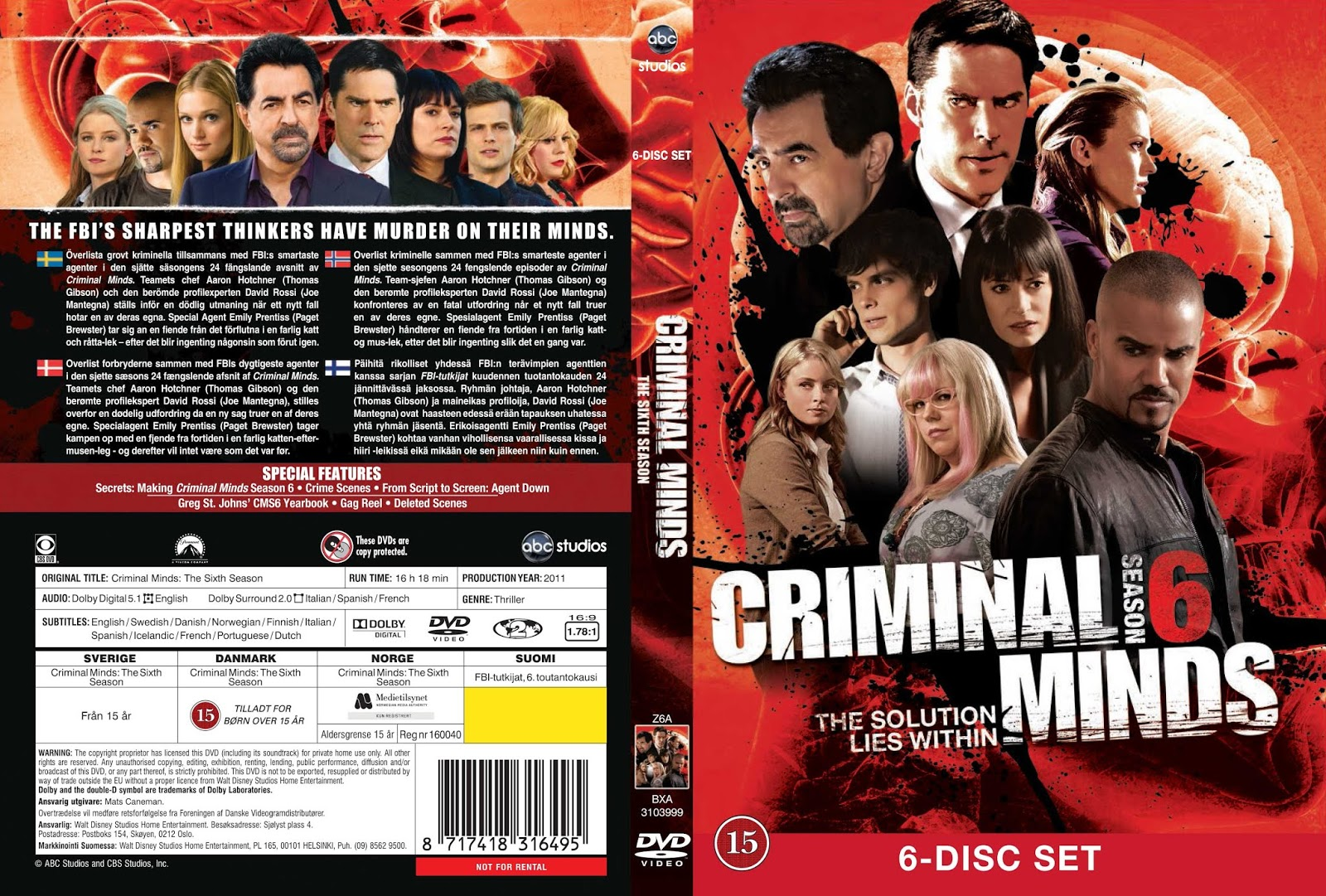 Criminal Minds Season 6 ทีมแกร่งเด็ดขั้วอาชญากรรม ปี 6 ทุกตอน พากย์ไทย