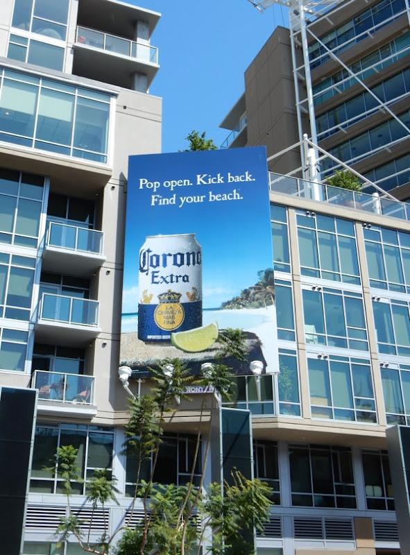 Corona Extra Pop open Kick Back billboard