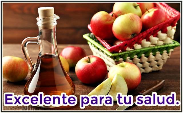 El vinagre de manzana es excelente para tu salud