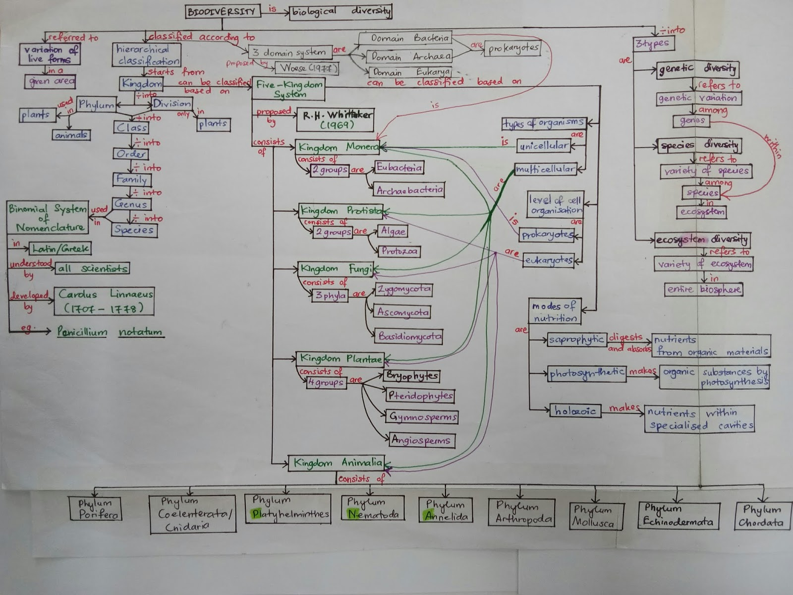 Image of: Class An Overview Of Biodiversity Ihmc Public Cmaps Biology Is To Serve Mankind Concept Map Biodiversity