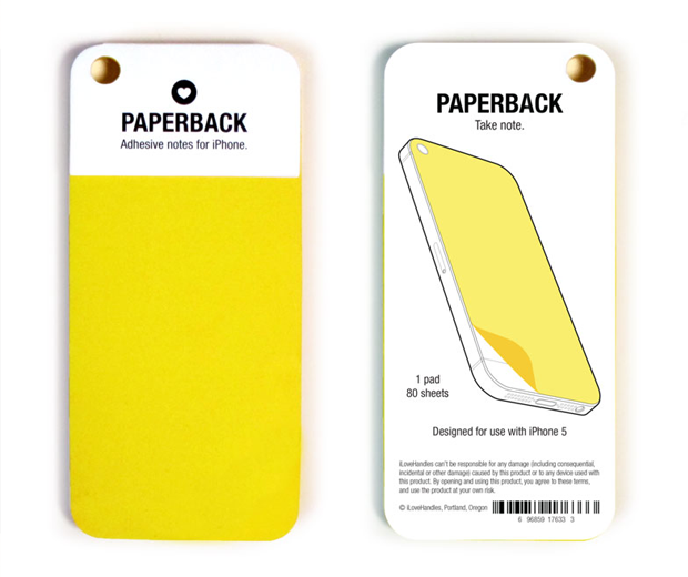 PaperBack iPhone 5 Notepad Adhesive notes for iPhone