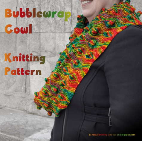 Knitting And So On Bubblewrap Cowl
