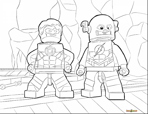 Unbelievable Lego Flash Coloring Pages With Lego Movie Coloring Page