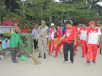 Mantap! Wakil Walikota Olahraga Sambil Pantau Lapmer