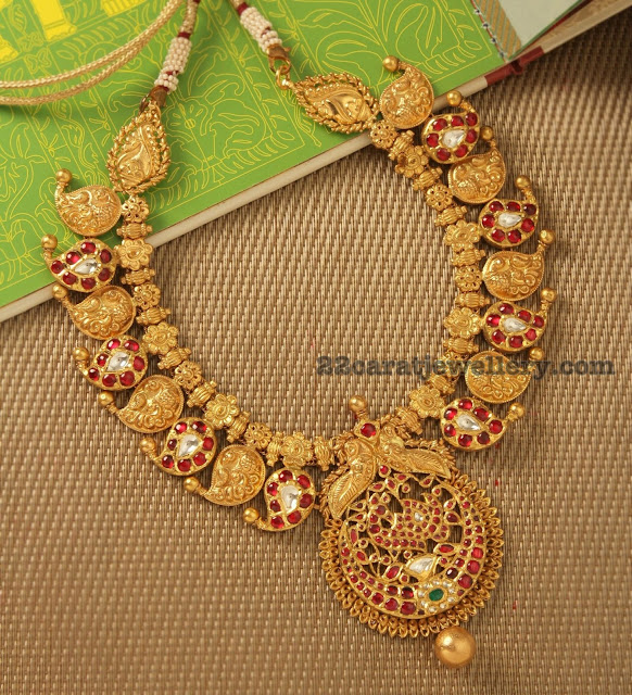 Antique Mango Necklace by Manubhai Jewellers