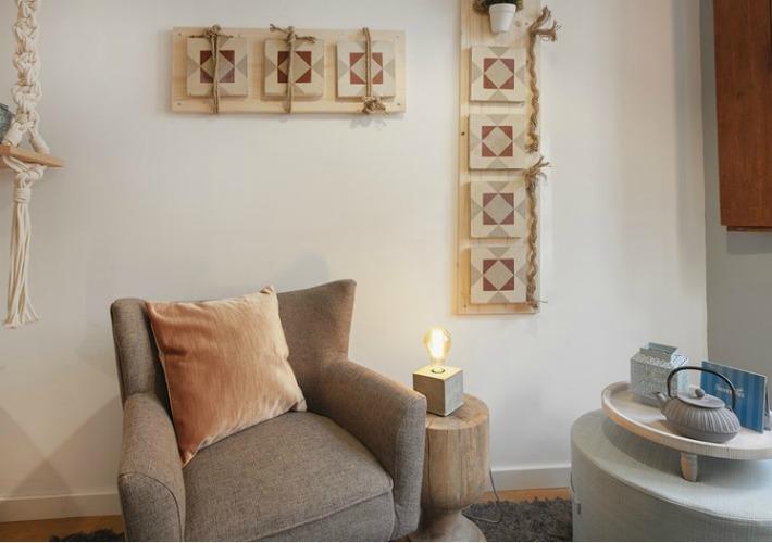 Inspiración para un mini apartamento con decoración lowcost