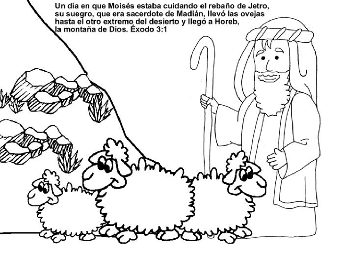 Dibujo Para Colorear De Jesus Pastoreando Sus Ovejas Imagui