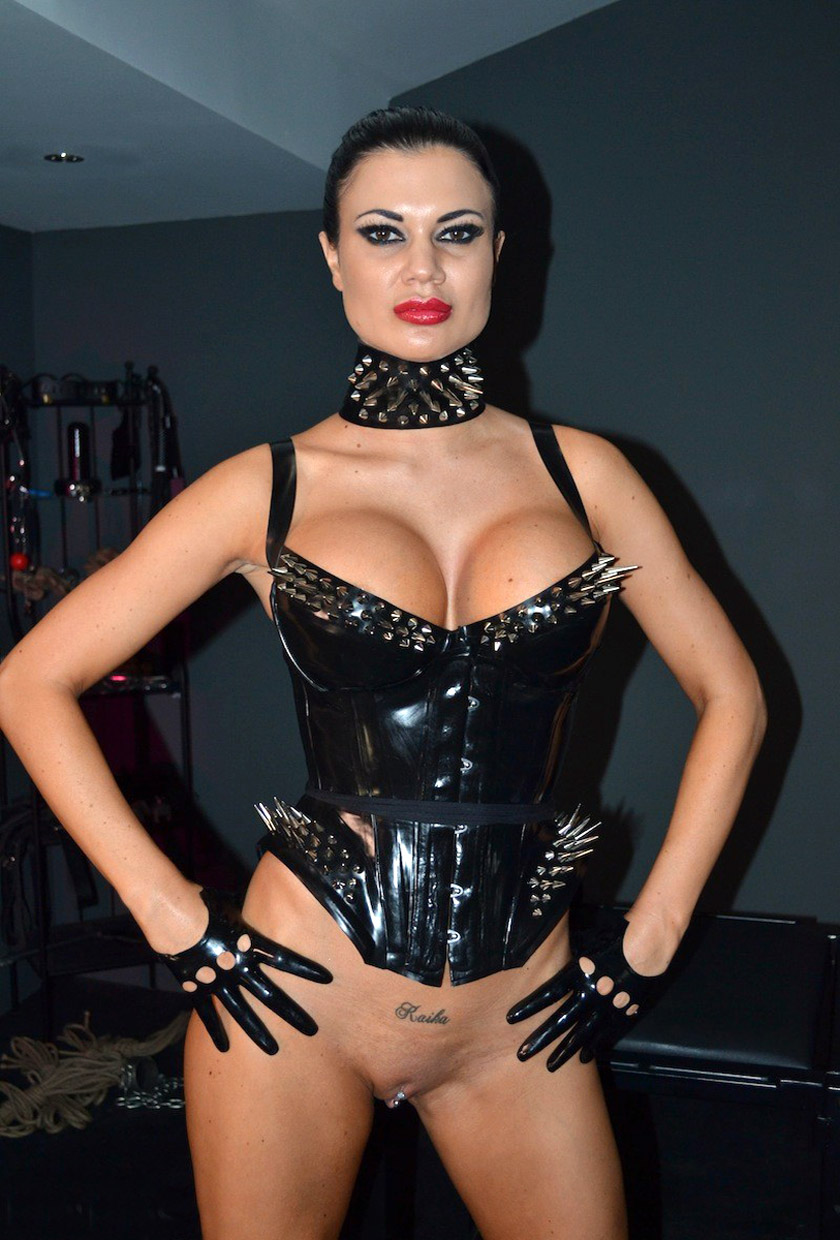 A latex corset and nothing else 10