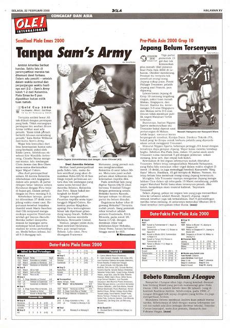 SEMIFINAL PIALA EMAS 2000 TANPA SAM'S ARMY