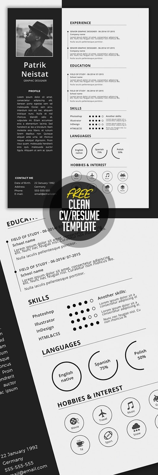 Download 30 template resume cv terbaru dan terbaik 2017 format simple cvresume template free download yelopaper Choice Image