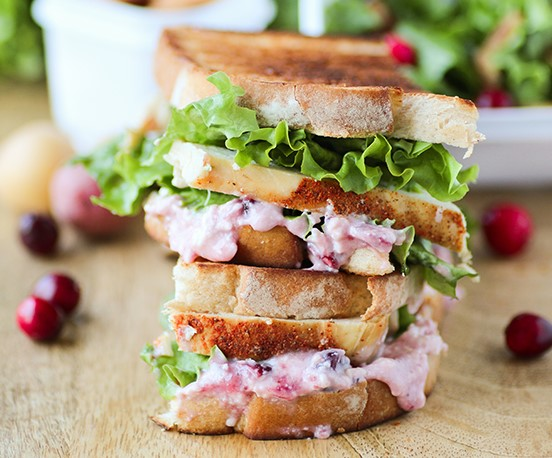 GRILLED CRANBERRY CREAM CHEESE TURKEY PANINI