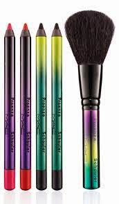 Prouenza Schuler Mac Collaberation Collection Lip an eyeliners and osder brush